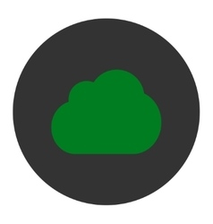 Cloud flat green and gray colors round button vector image