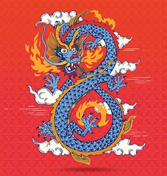 Colorful traditional chinese oriental dragon vector