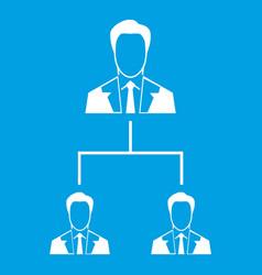 Company structure icon white vector