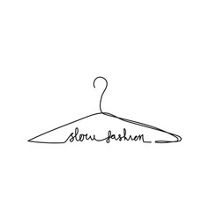 Continuous one line hanger with slow fashion vector
