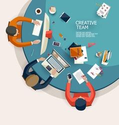 Creative team vector image