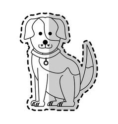 cute dog cartoon icon image vector image