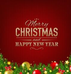 Dark Red Luxury Christmas Background vector