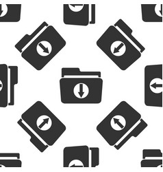 download arrow with folder icon seamless pattern vector image