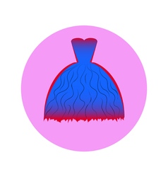 dress in circle vector image