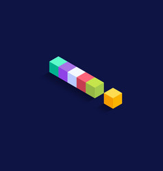 exclamation mark isometric colorful cubes 3d vector image