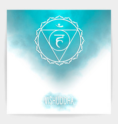 fifth throat chakra - vishuddha vector image