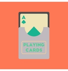 Flat icon on stylish background playing cards vector