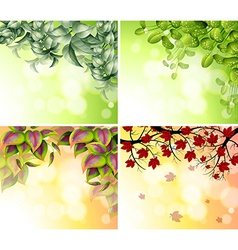 Four border designs vector