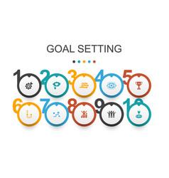Goal setting infographic design template dream vector