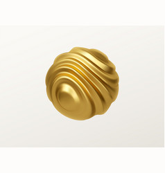 Golden metal organic shape 3d sphere isolated vector