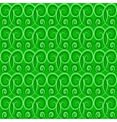 Green color seamless pattern vector image
