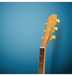 guitar head on blue vector image
