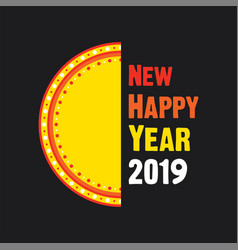 happy new year 2019 poster design vector image