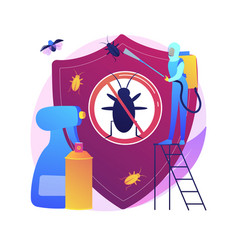 Home pest insects control abstract concept vector