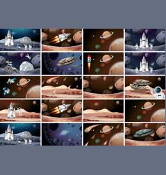 Huge space mars scene vector