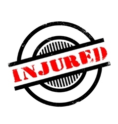 Injured rubber stamp vector