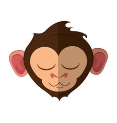 Isolated monkey cartoon face design vector
