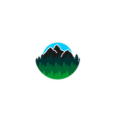 mountain fir logo designs inspiration isolated on vector image