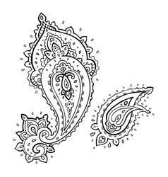 paisley ethnic ornament vector image
