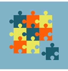 Parts of multicolor puzzles vector image