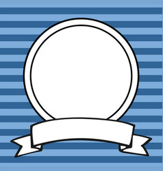 photo frame on blue stripes background vector image