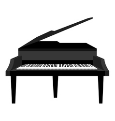 Piano music instrument icon design vector image