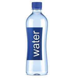 Plastic bottle of clean water vector