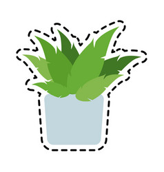 Potted plant icon image vector