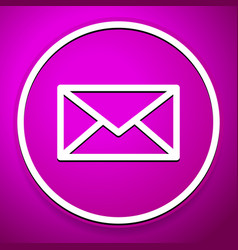 Purple email envelope closed letter icon symbol vector