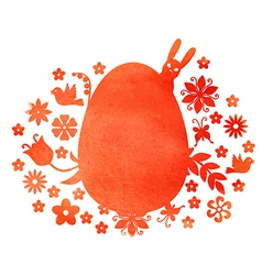red egg mix vector image