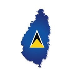 Saint lucia flag amp map vector