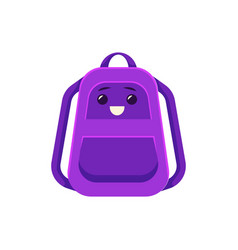 schoolbag backpack with school supplies vector image