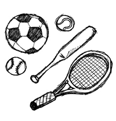 scribble series - sports vector image