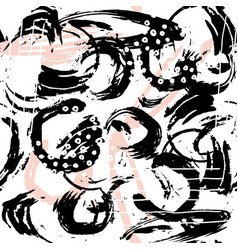 seamless abstract pattern with hand drawn shapes vector image