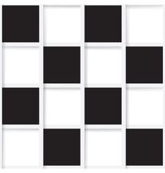 Seamless mosaic from black and white squares vector