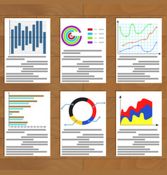 Set charts document vector