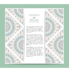 Set of romantic circular greeting gentlecards and vector image