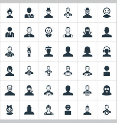 Set simple human icons vector