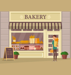 Shopper with baguette vector