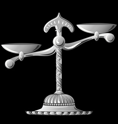 silver scale unbalanced vector image