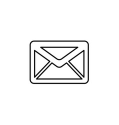 sms line icon black on white vector image