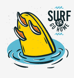 surfing surf sign label for promotion ads t shir vector image