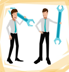 technician Business man vector image