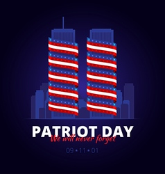 To the patriot day in America vector