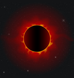 Total solar eclipse realistic image vector