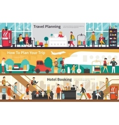 Travel Planning How To Plan Your Trip Hotel vector