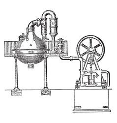 Vacuum pan vintage vector