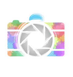 watercolor photography camera vector image