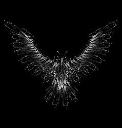 white ink blots phoenix vector image